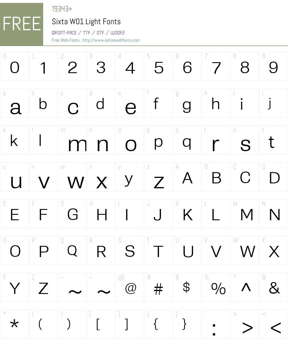 SixtaW01-Light Font Screenshots