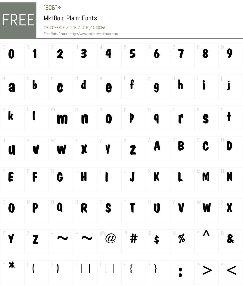 MktBold Plain: Font Screenshots