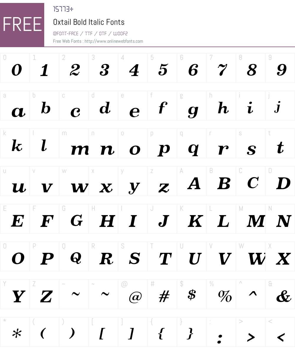 Oxtail Font Screenshots