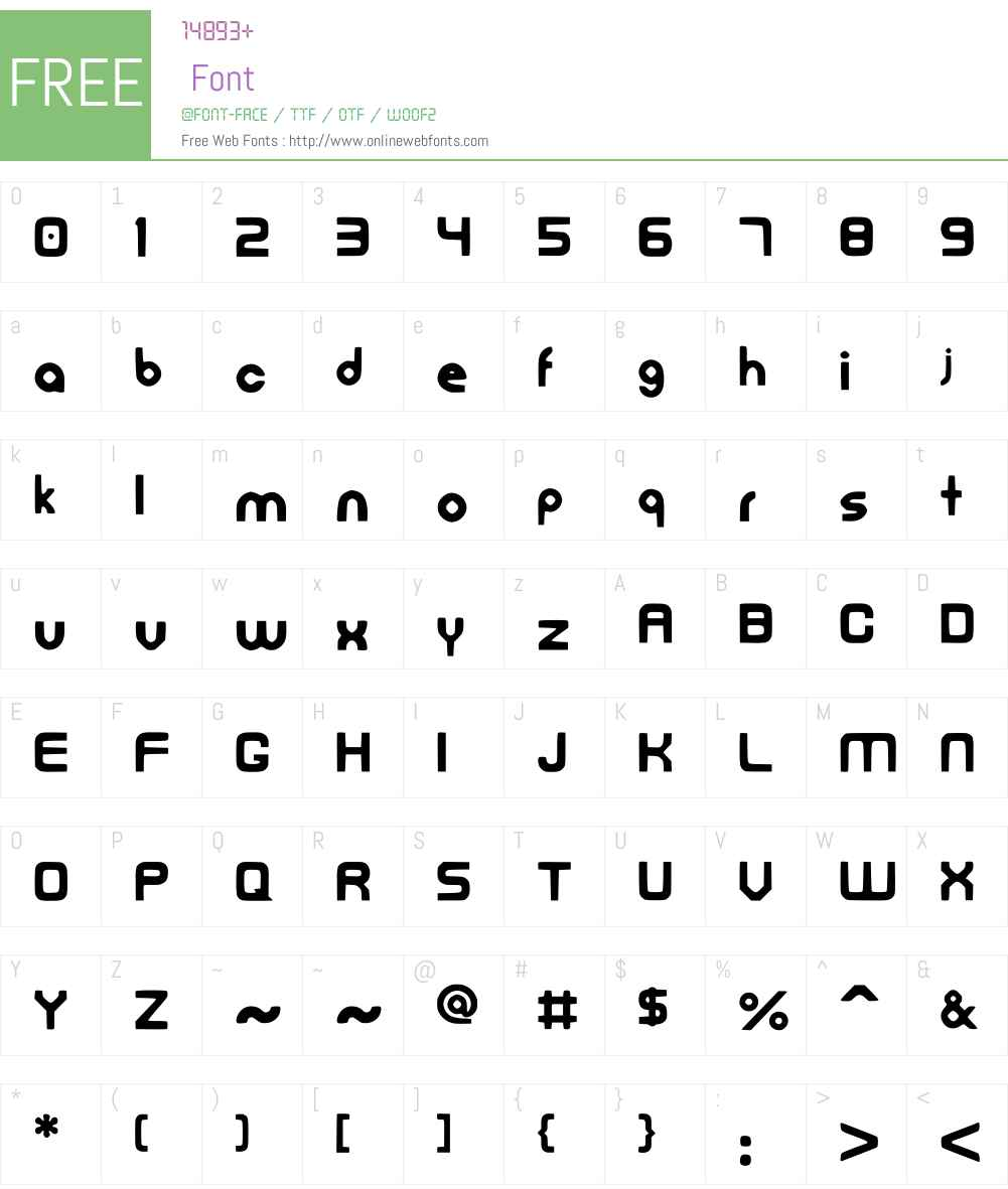 FreedanFont Font Screenshots