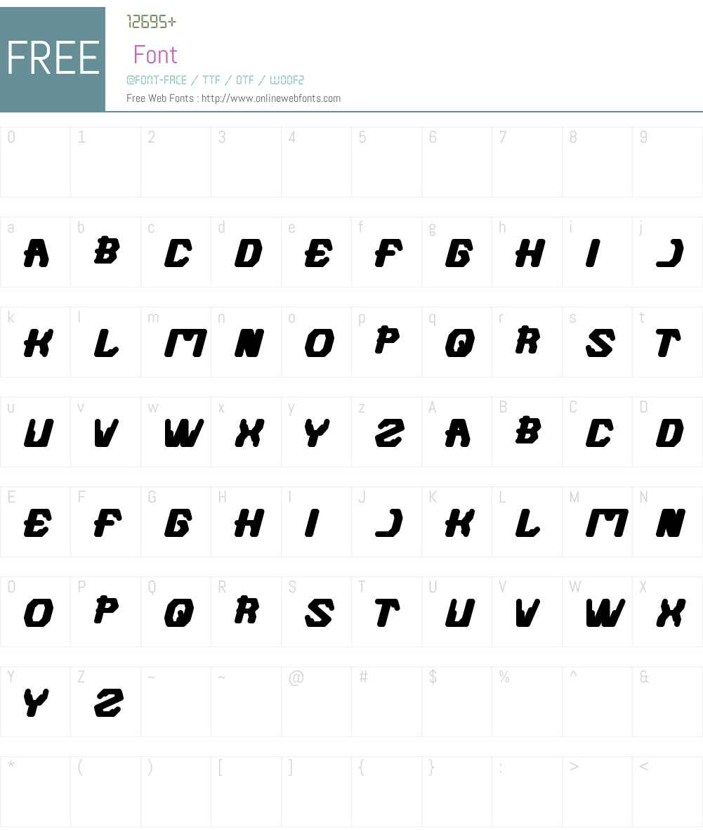 FUTURISTIC Font Screenshots