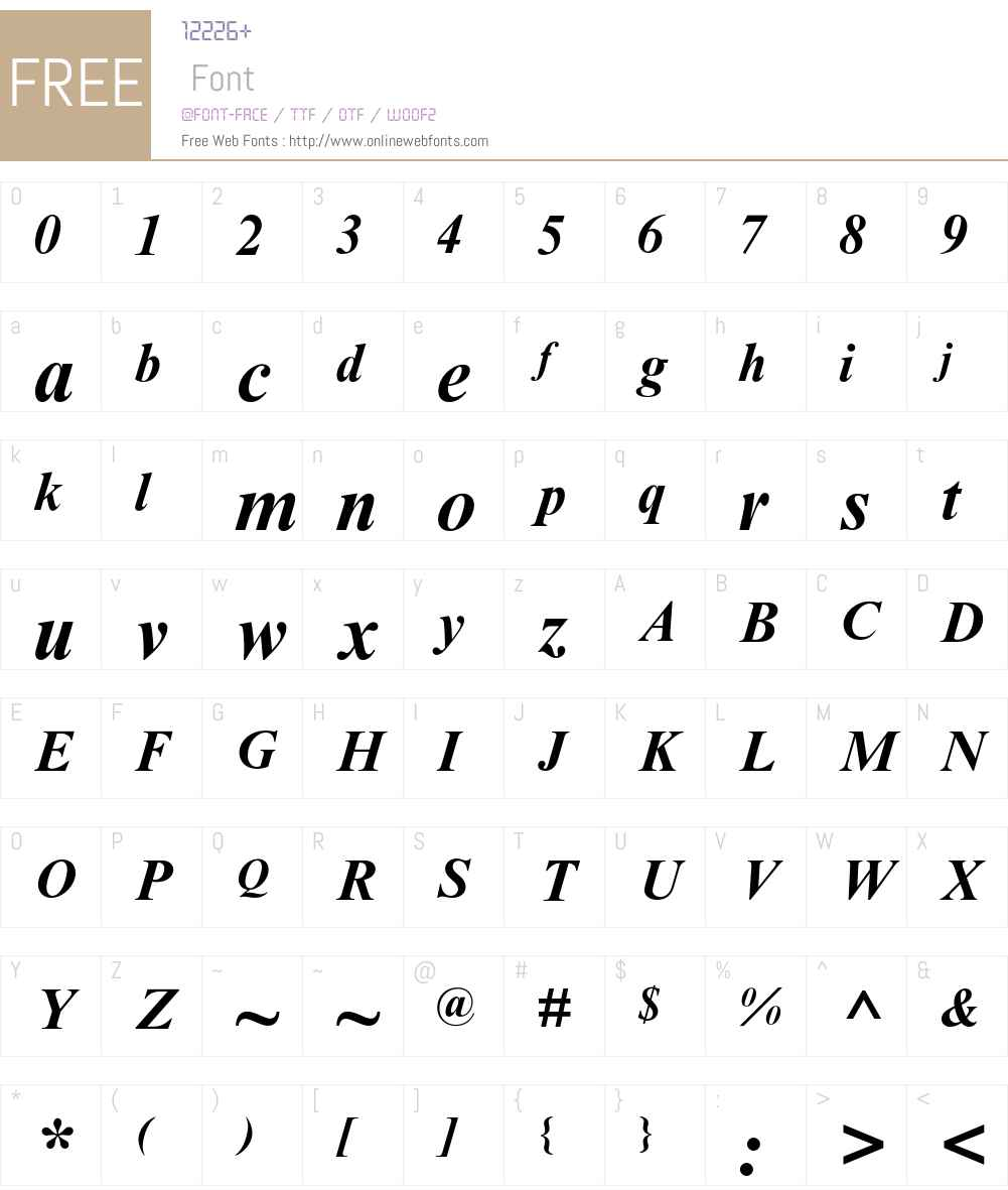 Times New Roman MT Std Font Screenshots