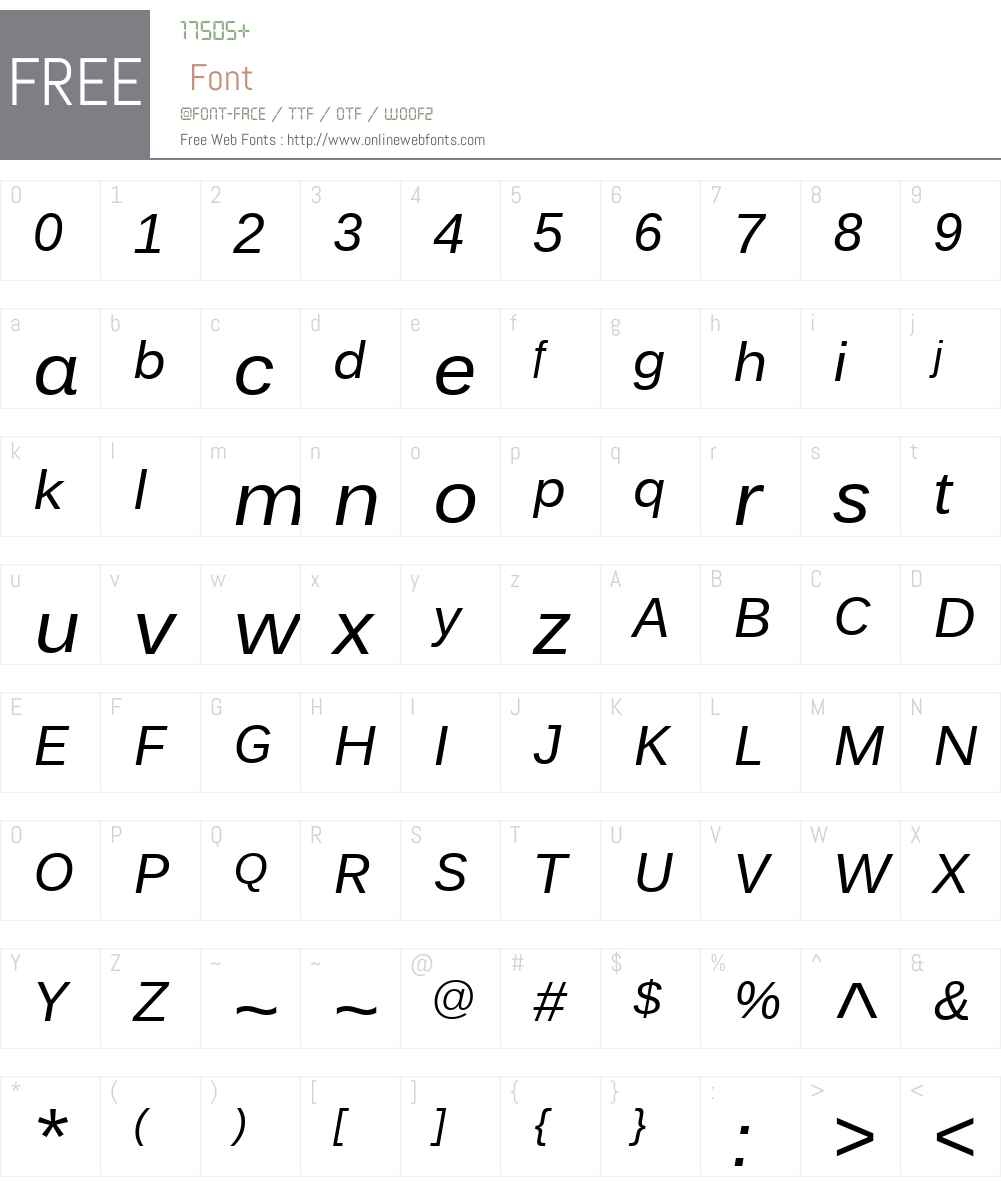 Endurance Font Screenshots