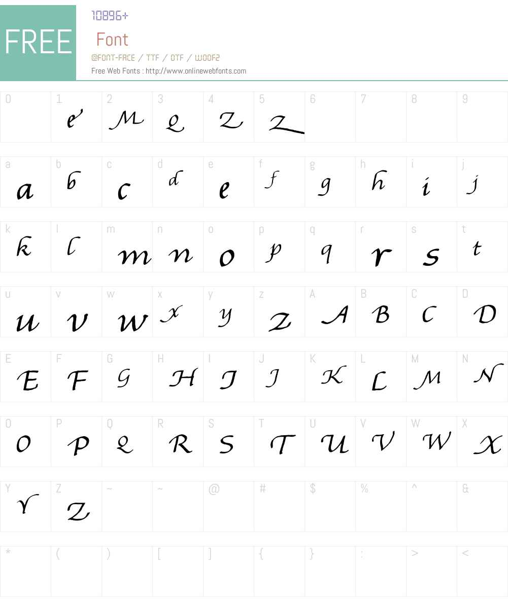Gourdie Handwriting Font Screenshots