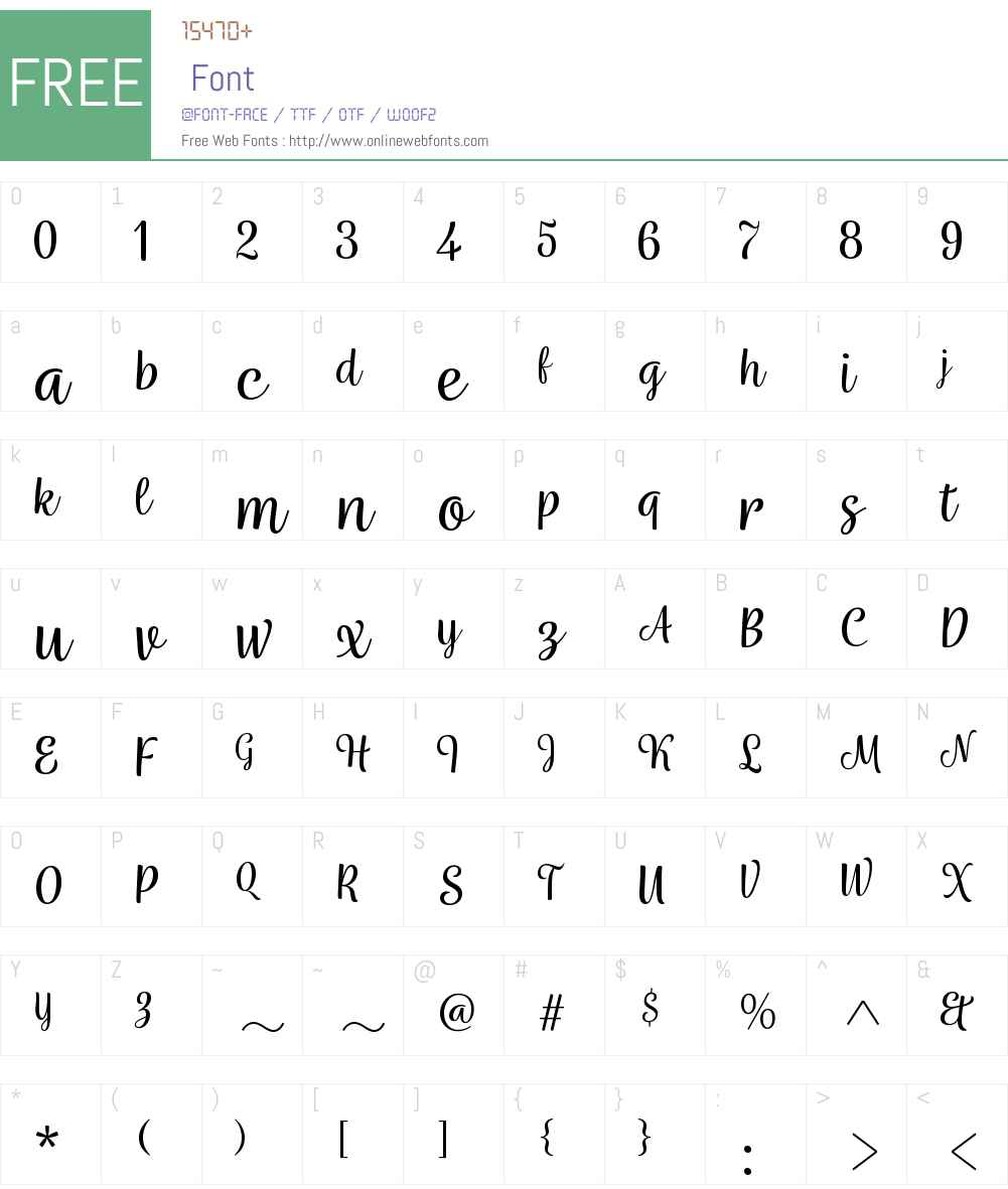 Wreath-Reg Font Screenshots