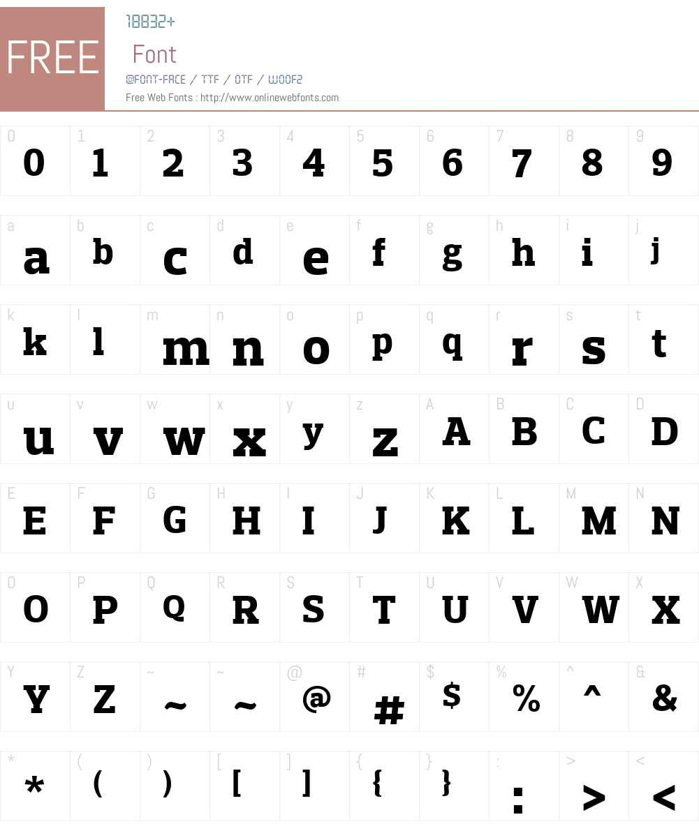 PreloSlabW01-XBold Font Screenshots