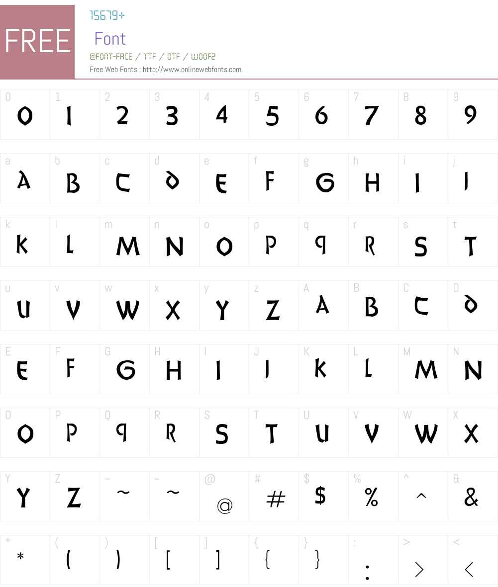 UnciaDis Font Screenshots