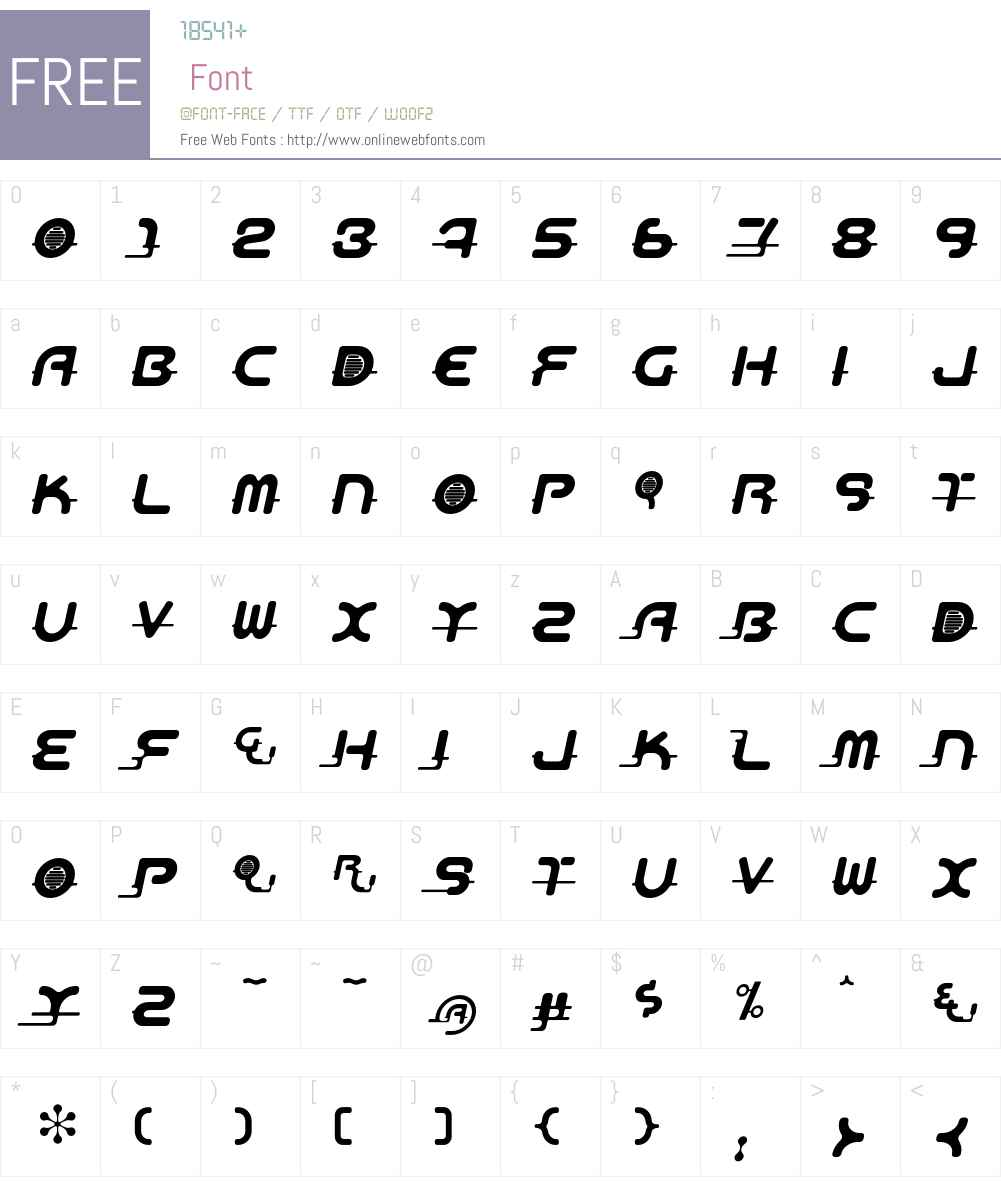 Aeos Font Screenshots