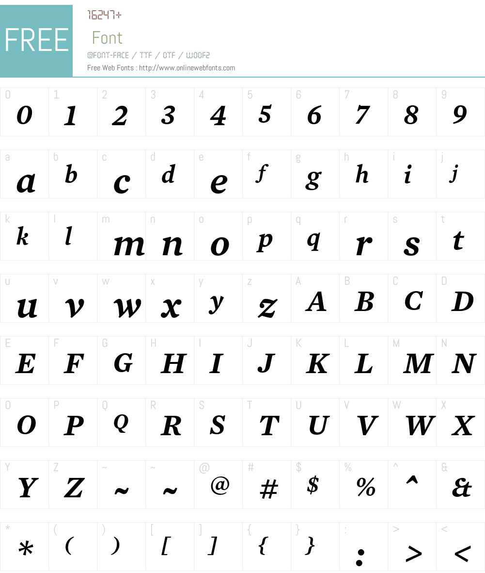 Mercury Text G4 Font Screenshots