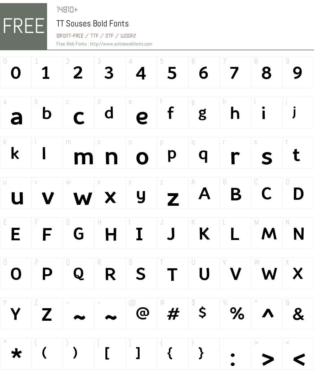 TTSouses-Bold Font Screenshots