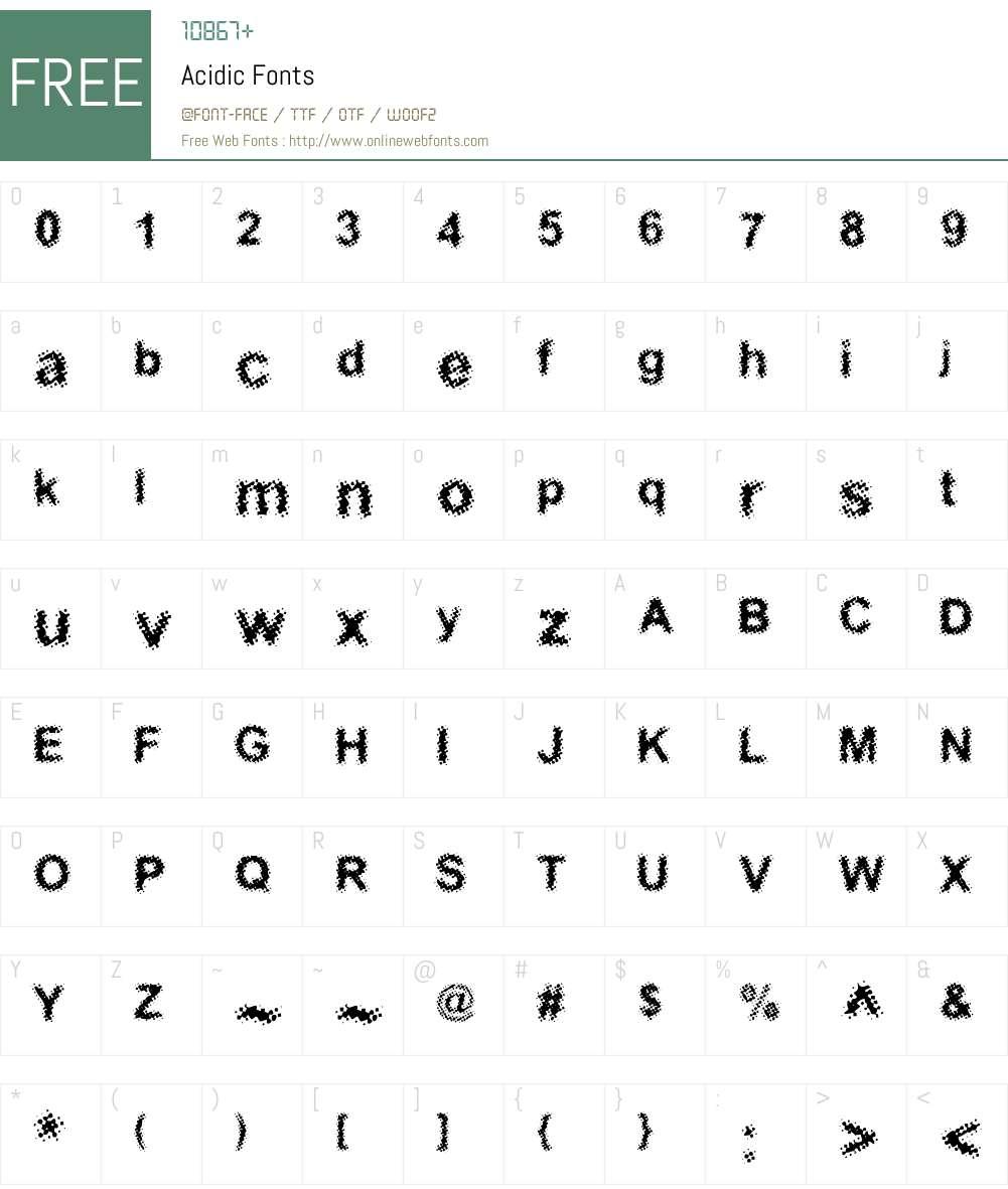 Acidic Font Screenshots
