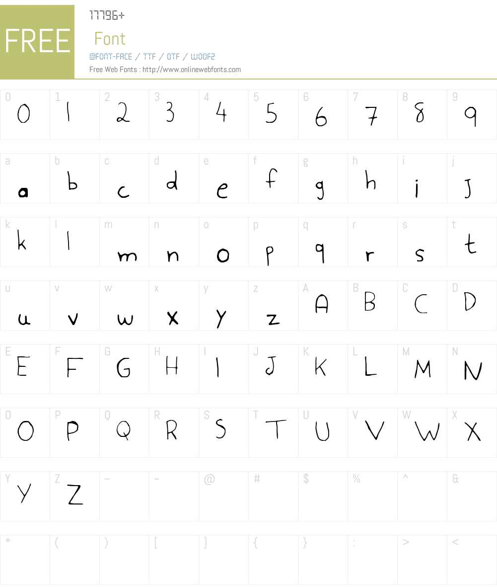 Aspargo Font Screenshots