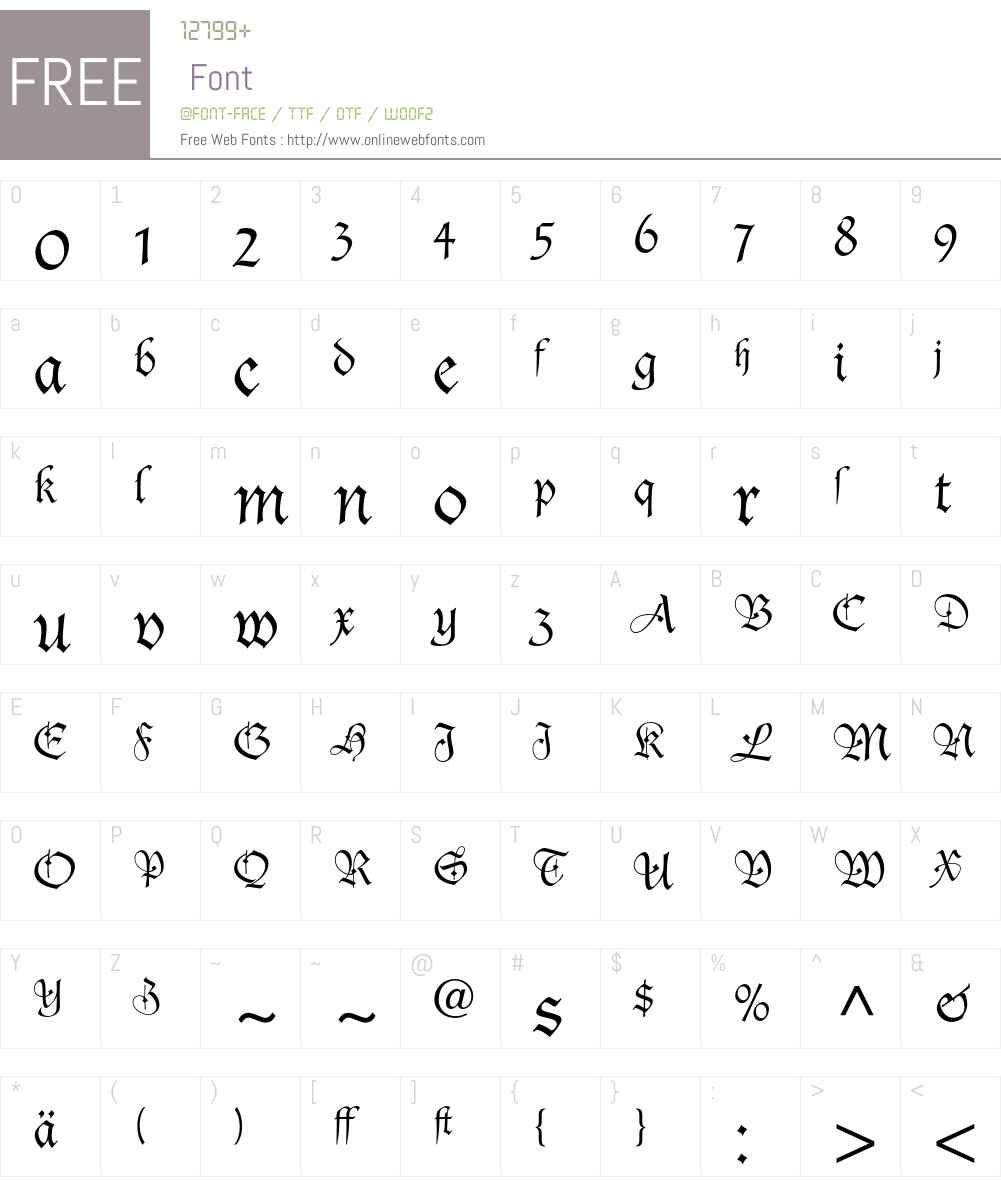 Duc De Berry Font Screenshots