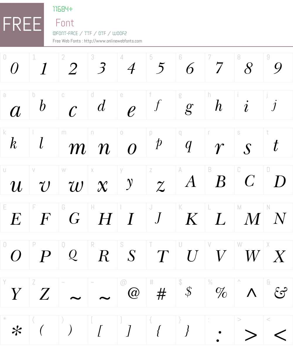 Baskerville Cyrillic LT Std Font Screenshots