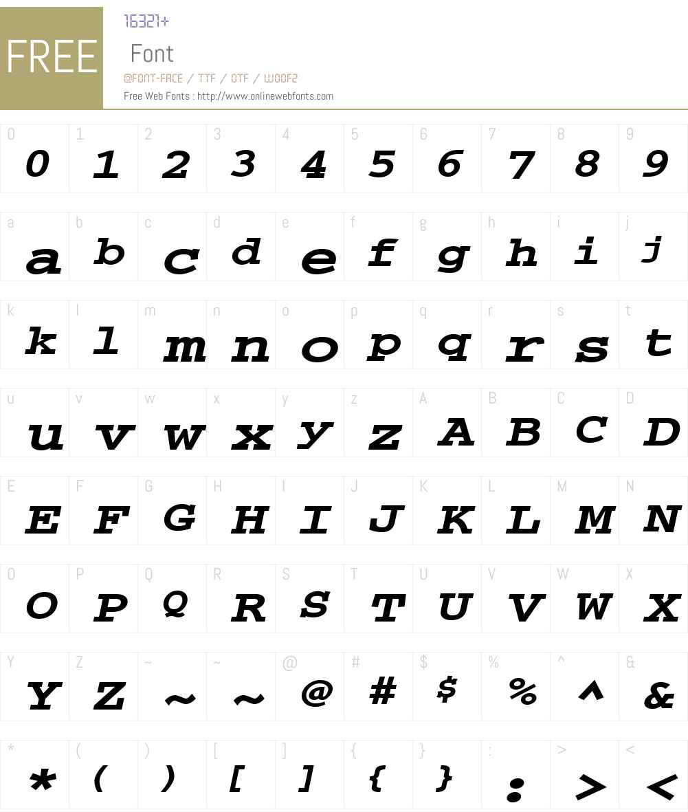 Chisel-Extended Font Screenshots