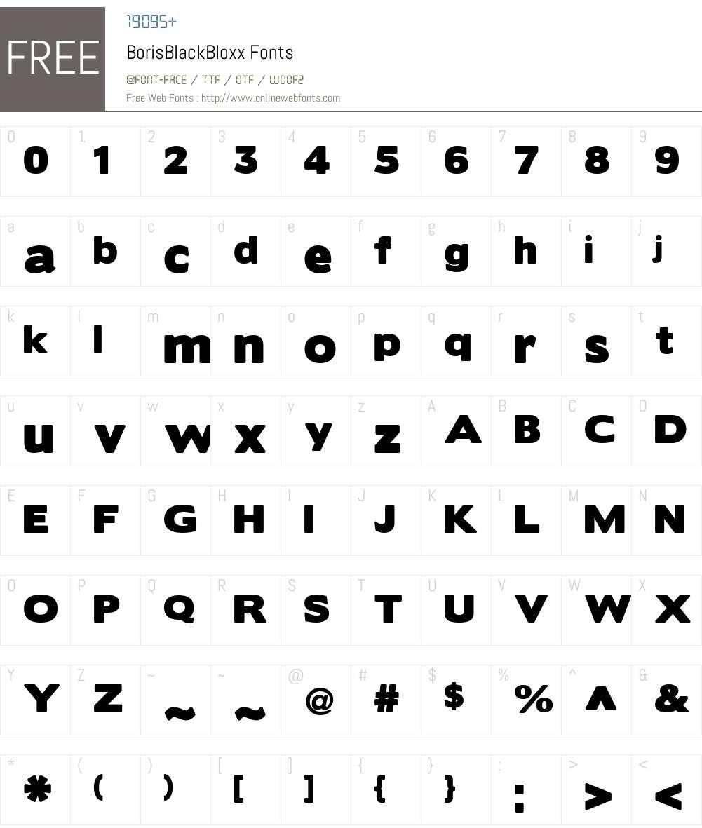 BorisBlackBloxx Font Screenshots