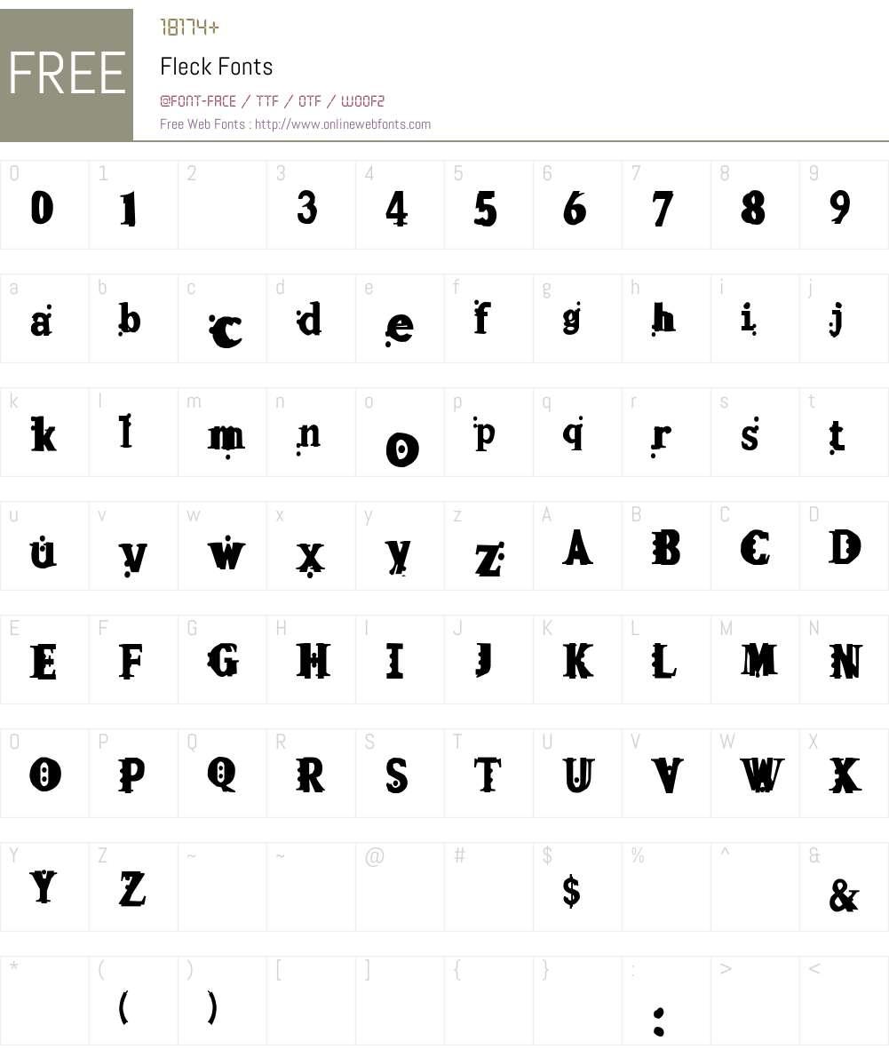 Fleck Font Screenshots
