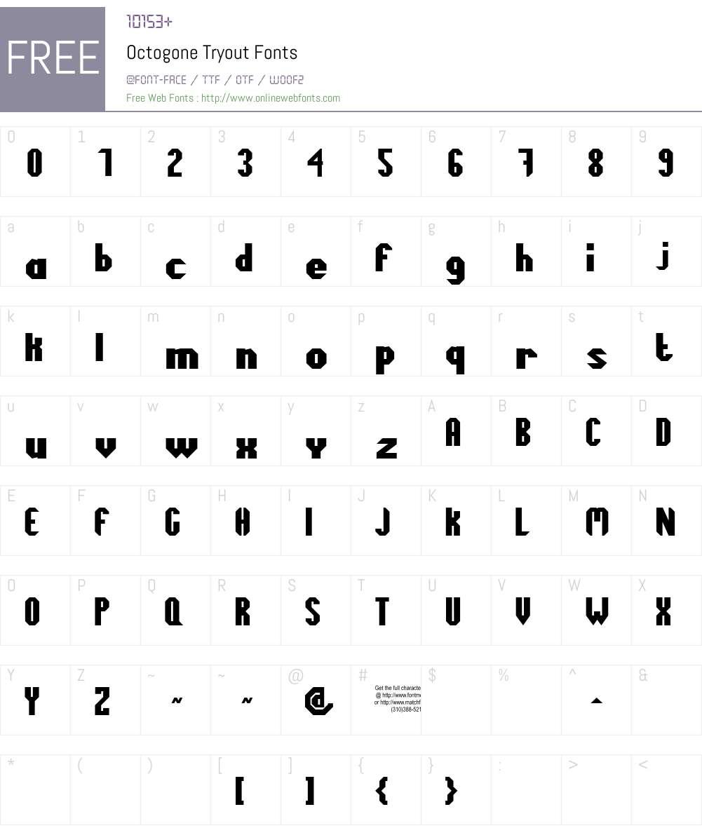 Octogone Tryout Font Screenshots
