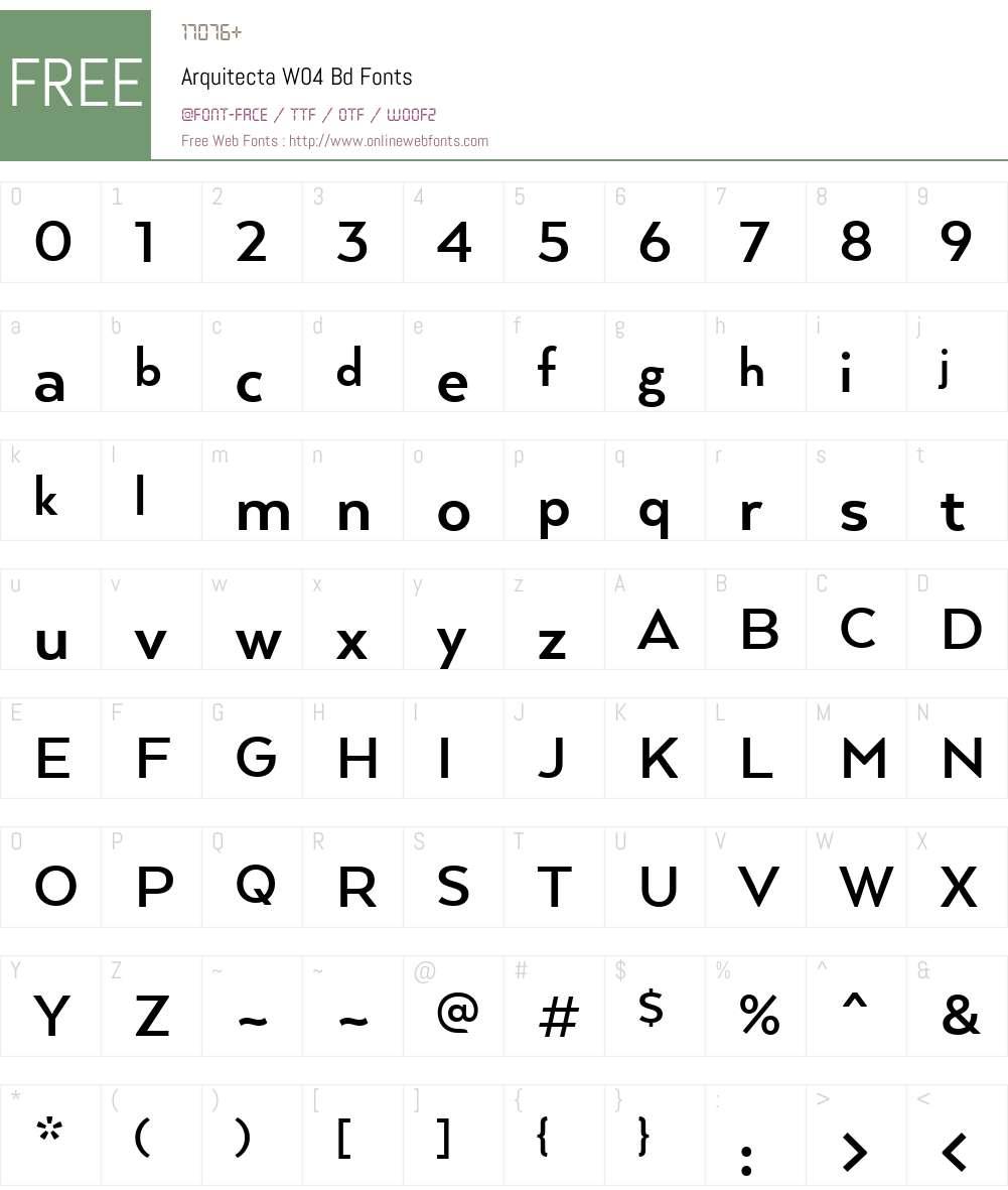 Arquitecta Font Screenshots