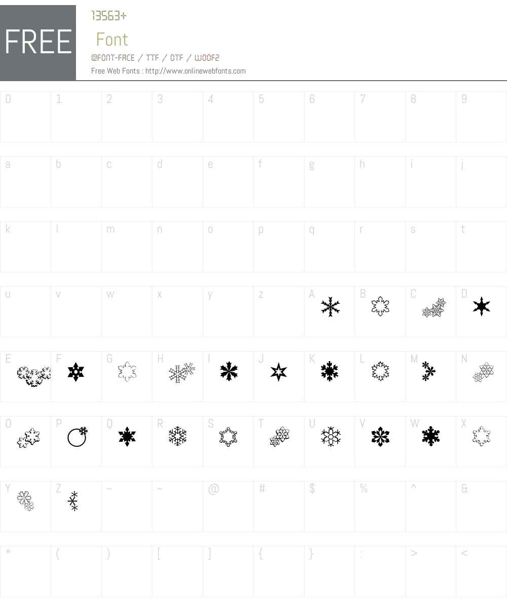 ryp_sflake4 Font Screenshots
