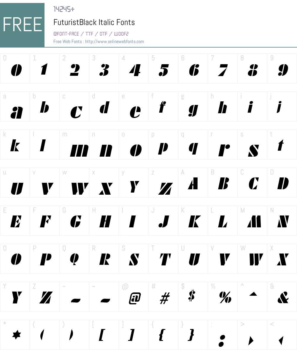 FuturistBlack Font Screenshots