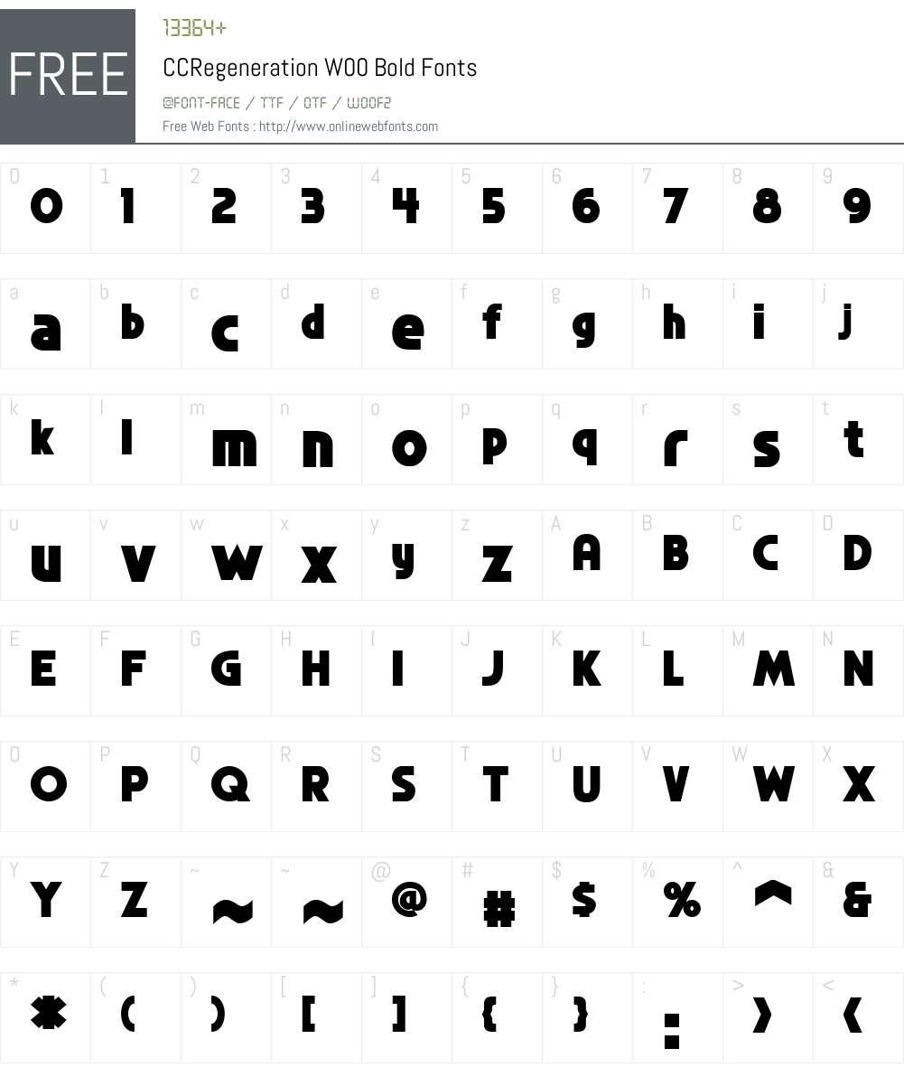 CCRegenerationW00-Bold Font Screenshots
