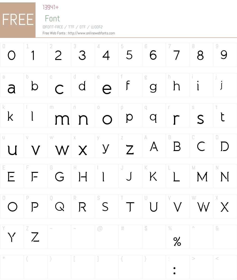 Natura Play Font Screenshots