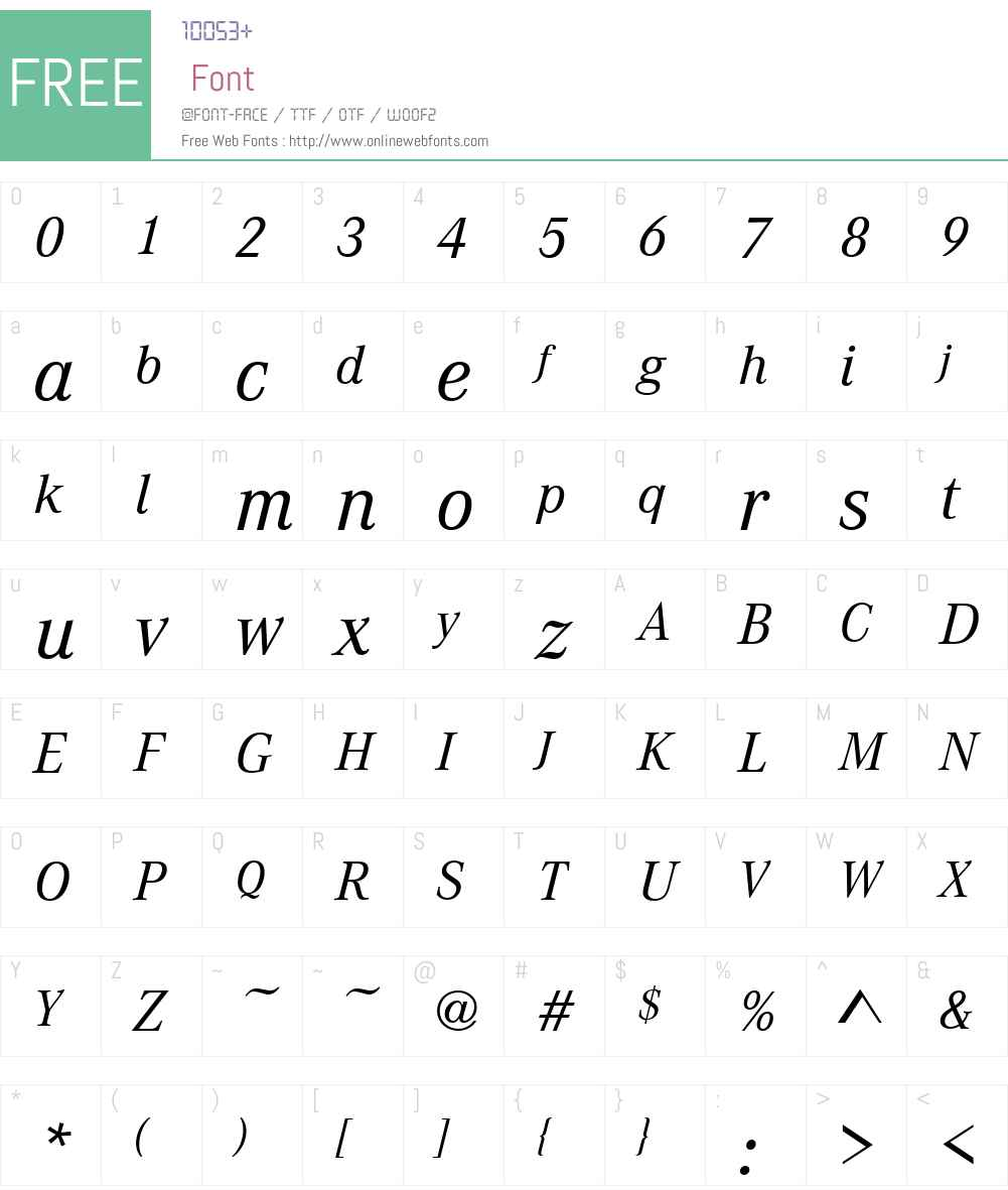 CorpoA Font Screenshots