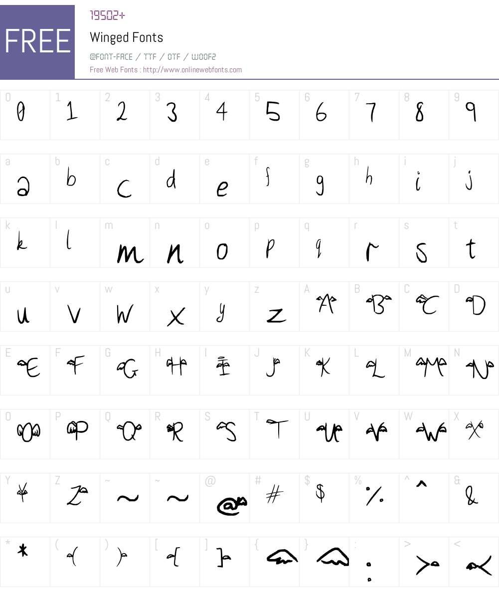 Winged Font Screenshots