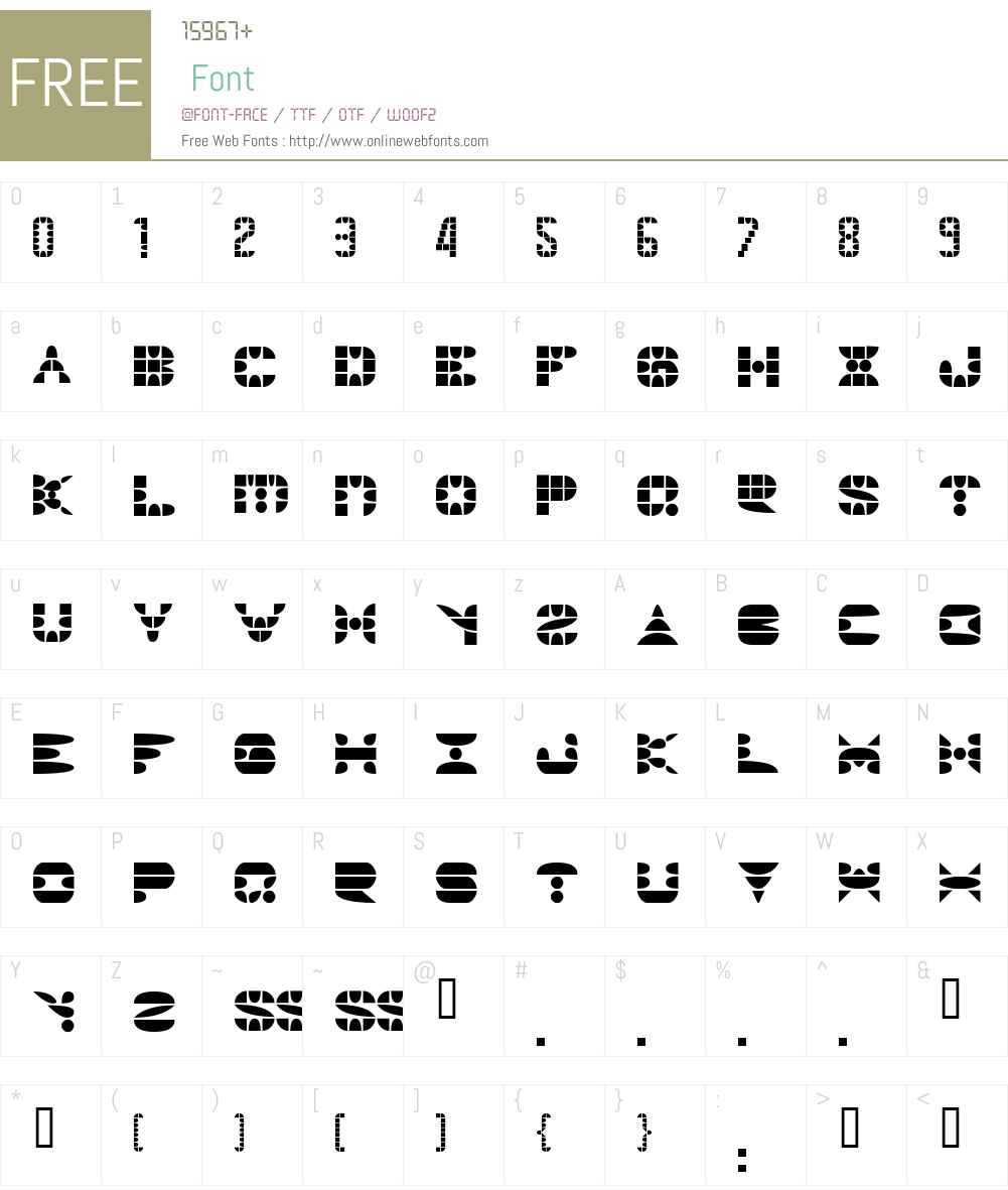 PANGOTH Font Screenshots