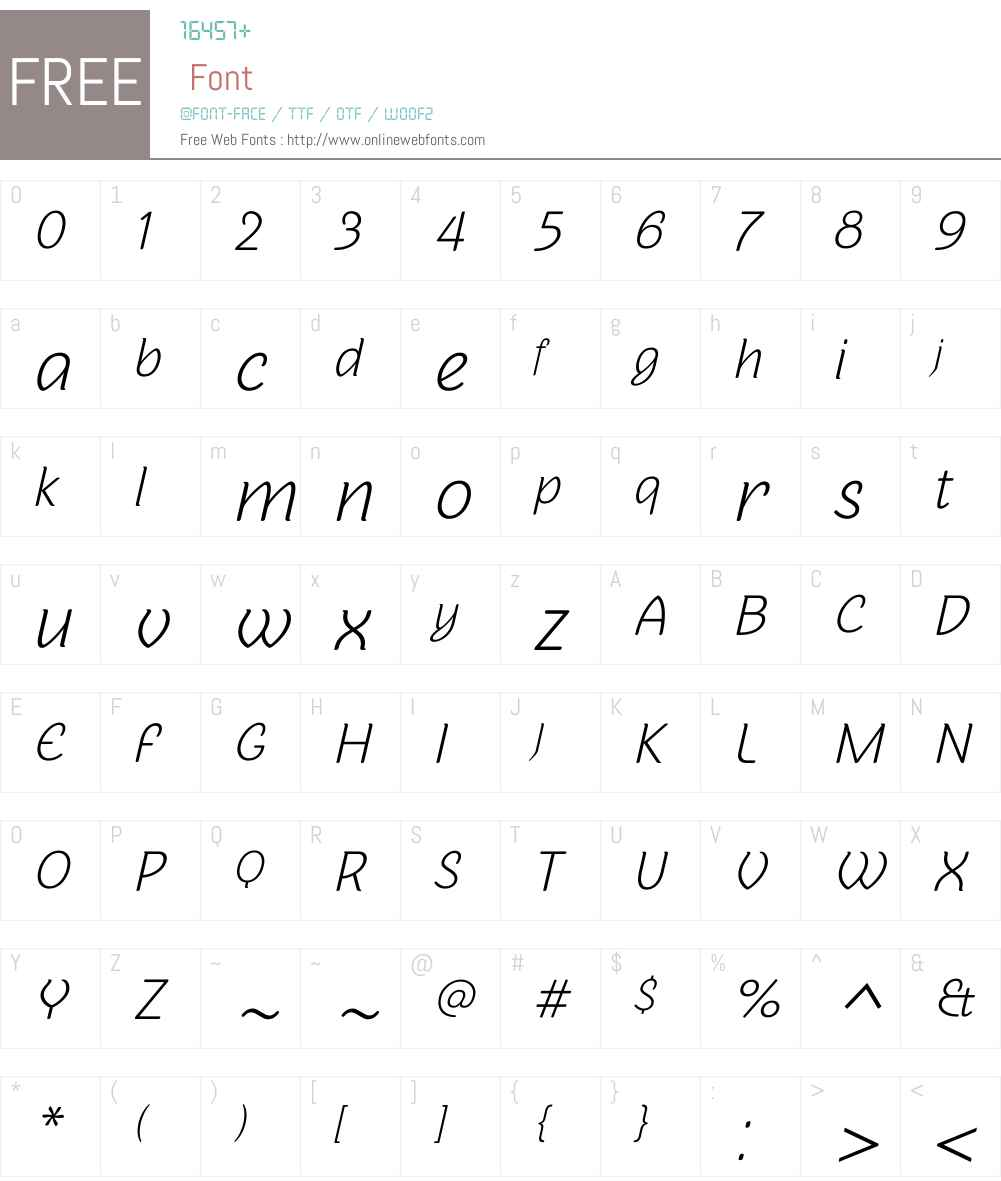 Sovba Light Oblique Font Screenshots