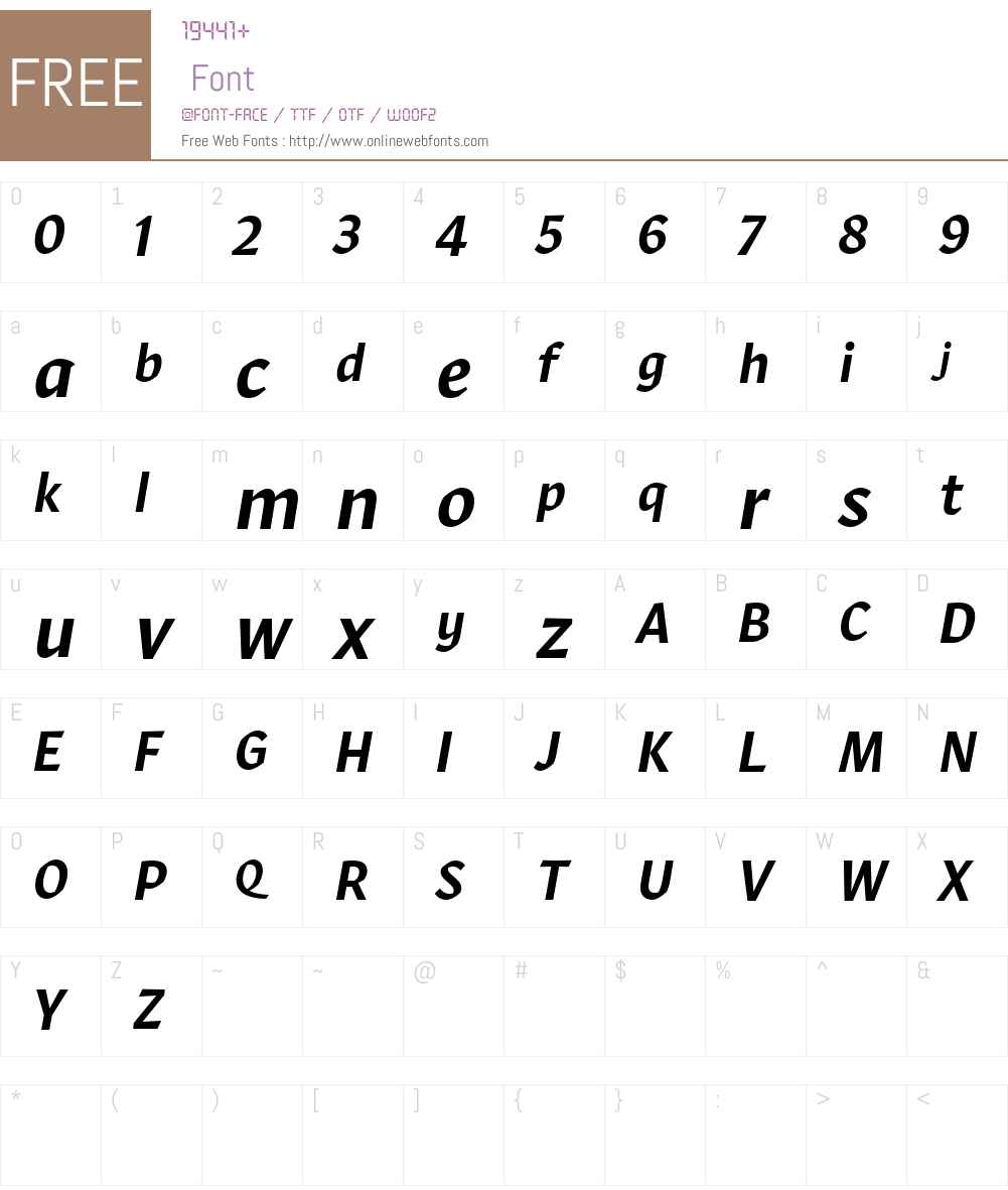 Robinson Web Medium Font Screenshots