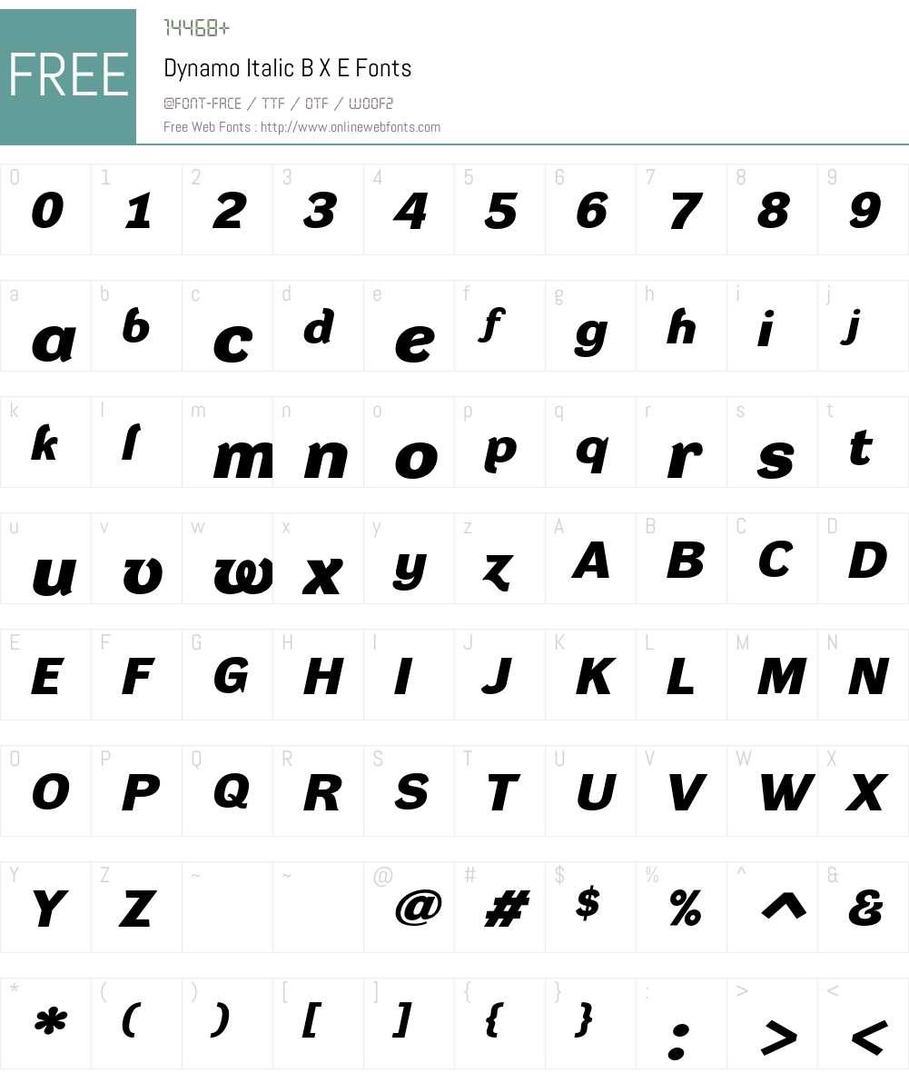 Dynamo DXE Font Screenshots