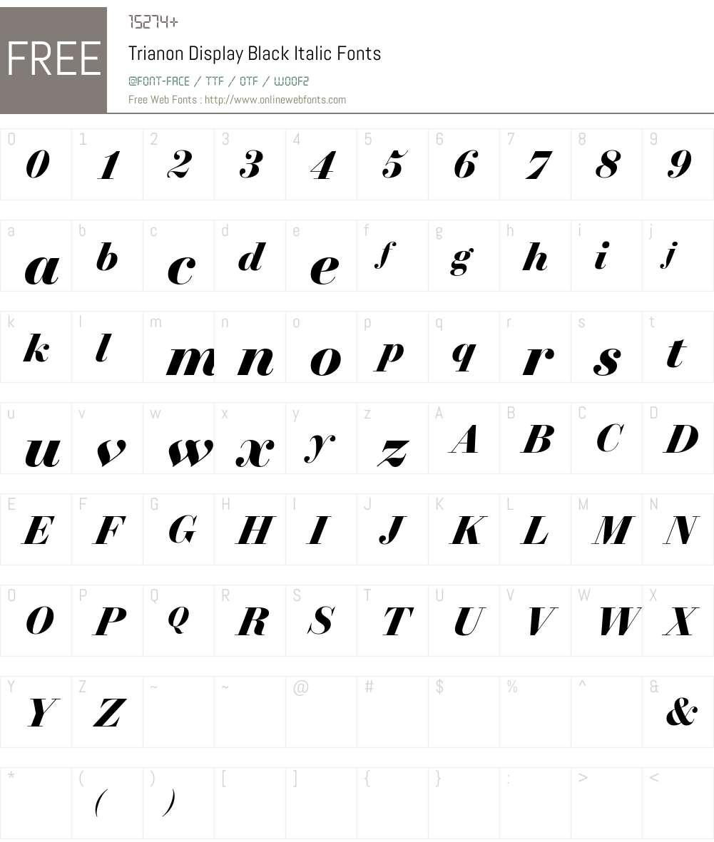 Trianon Display Black Font Screenshots