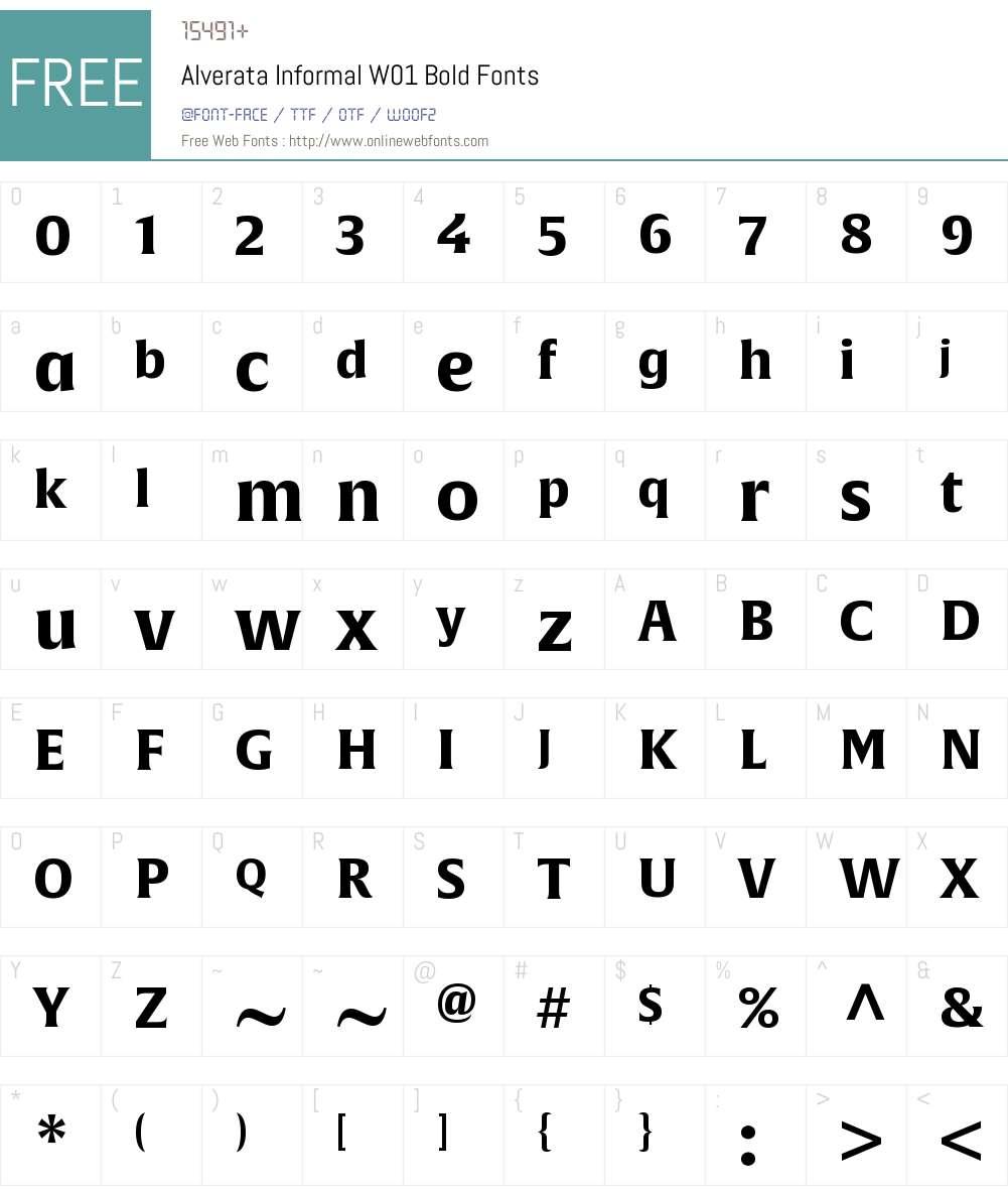 AlverataInformalW01-Bold Font Screenshots