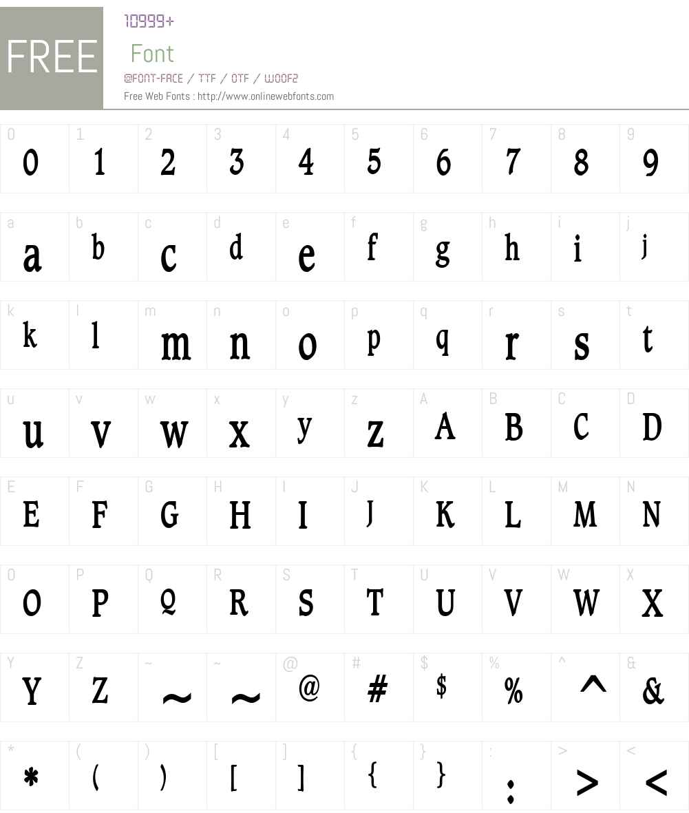 Clayton Thin Font Screenshots
