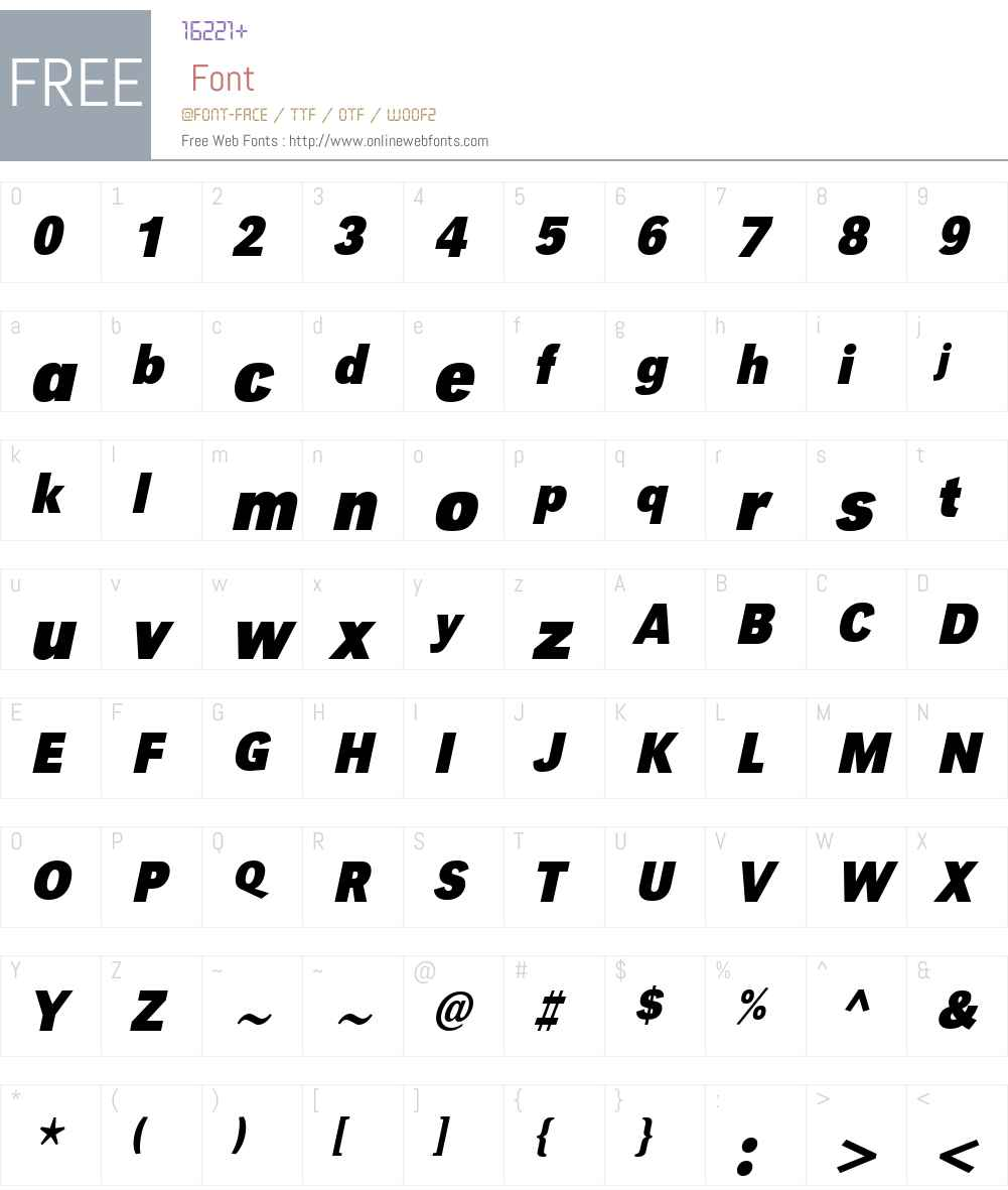 URWGroteskTExtNar Font Screenshots