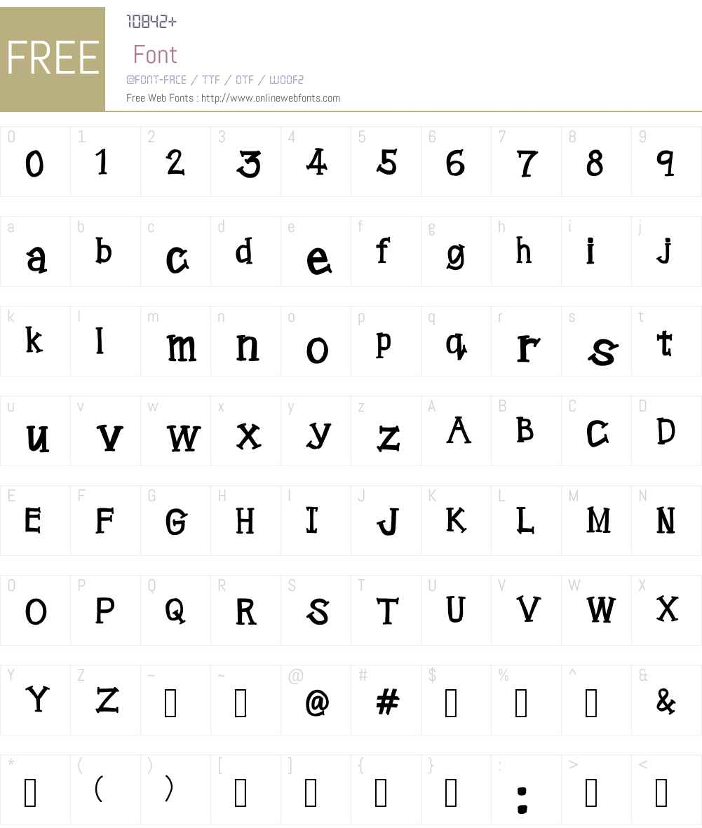 dochi formal Font Screenshots
