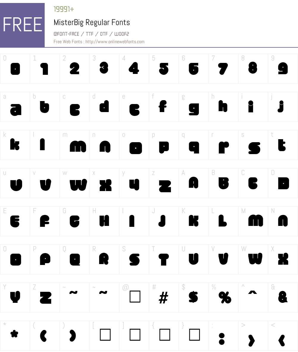 MisterBig Font Screenshots