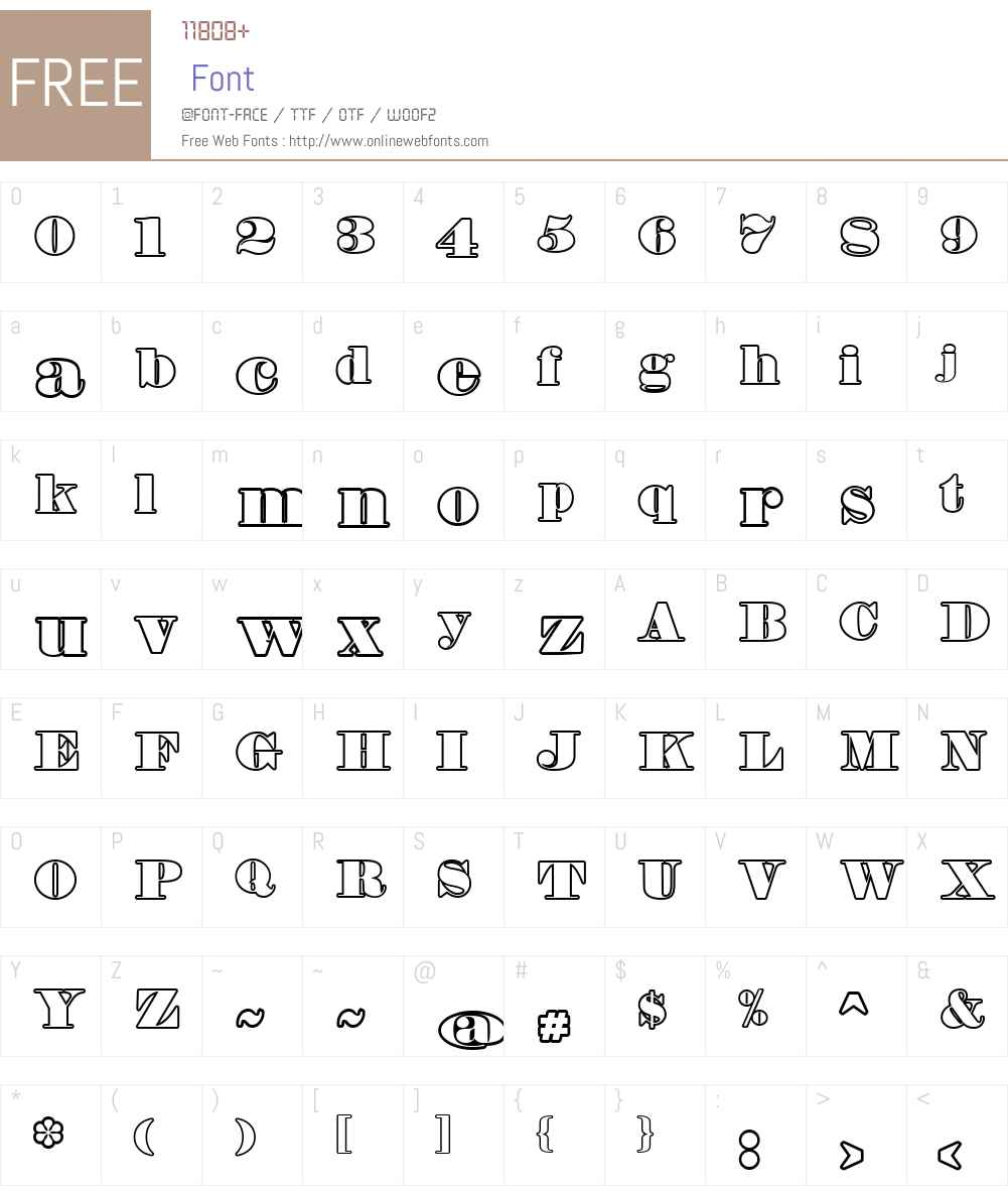 Fette Bauersche Antiqua UNZ Pro Hollow Font Screenshots