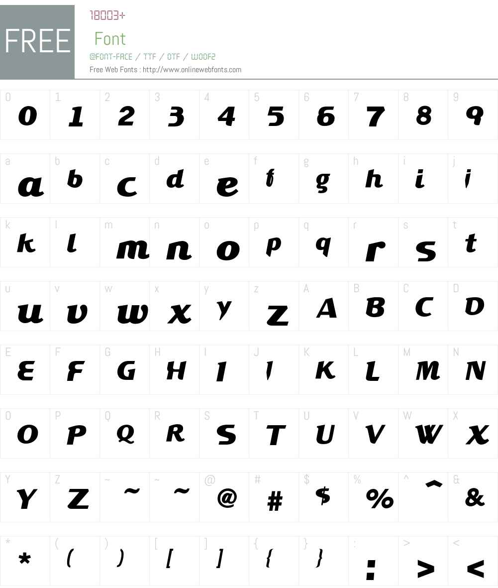 XYPERFORMULAIC Font Screenshots