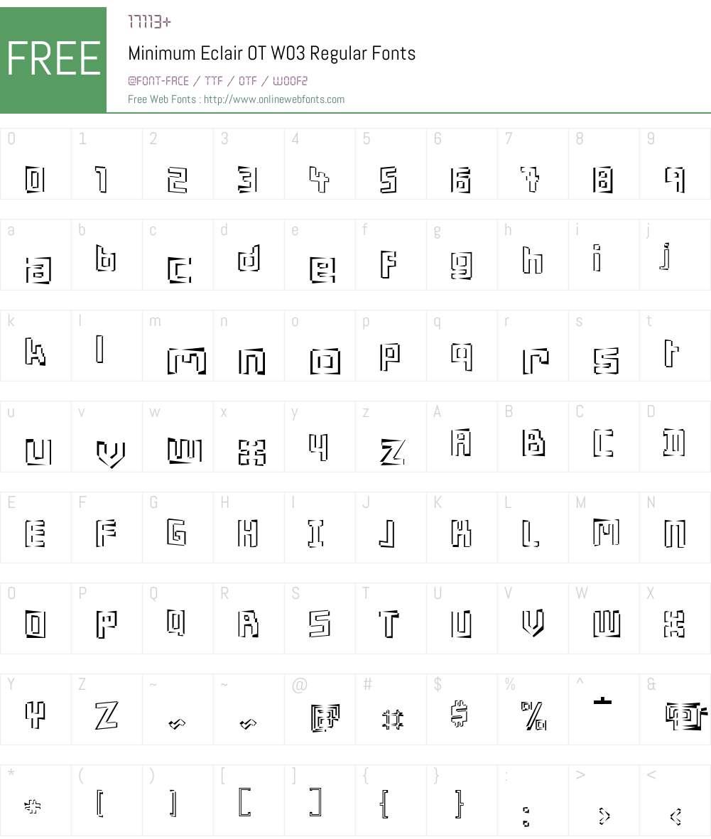 FF Minimum Font Screenshots