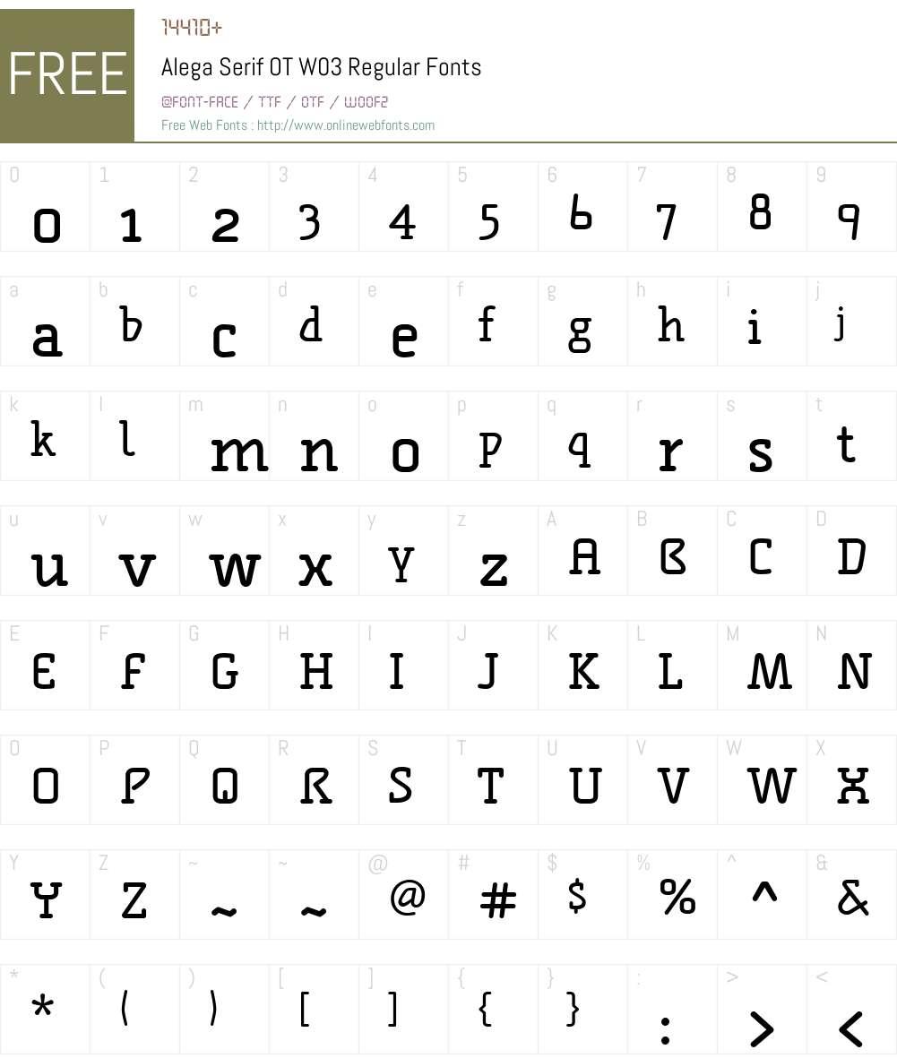 FF Alega Serif Font Screenshots