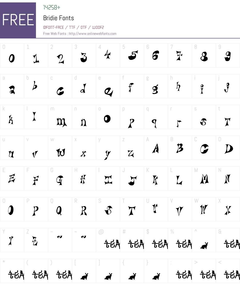 Bridie Font Screenshots