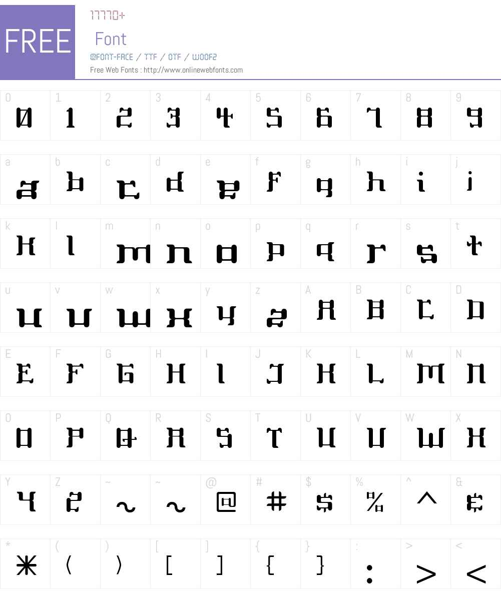 ReplicantW00-Reg Font Screenshots