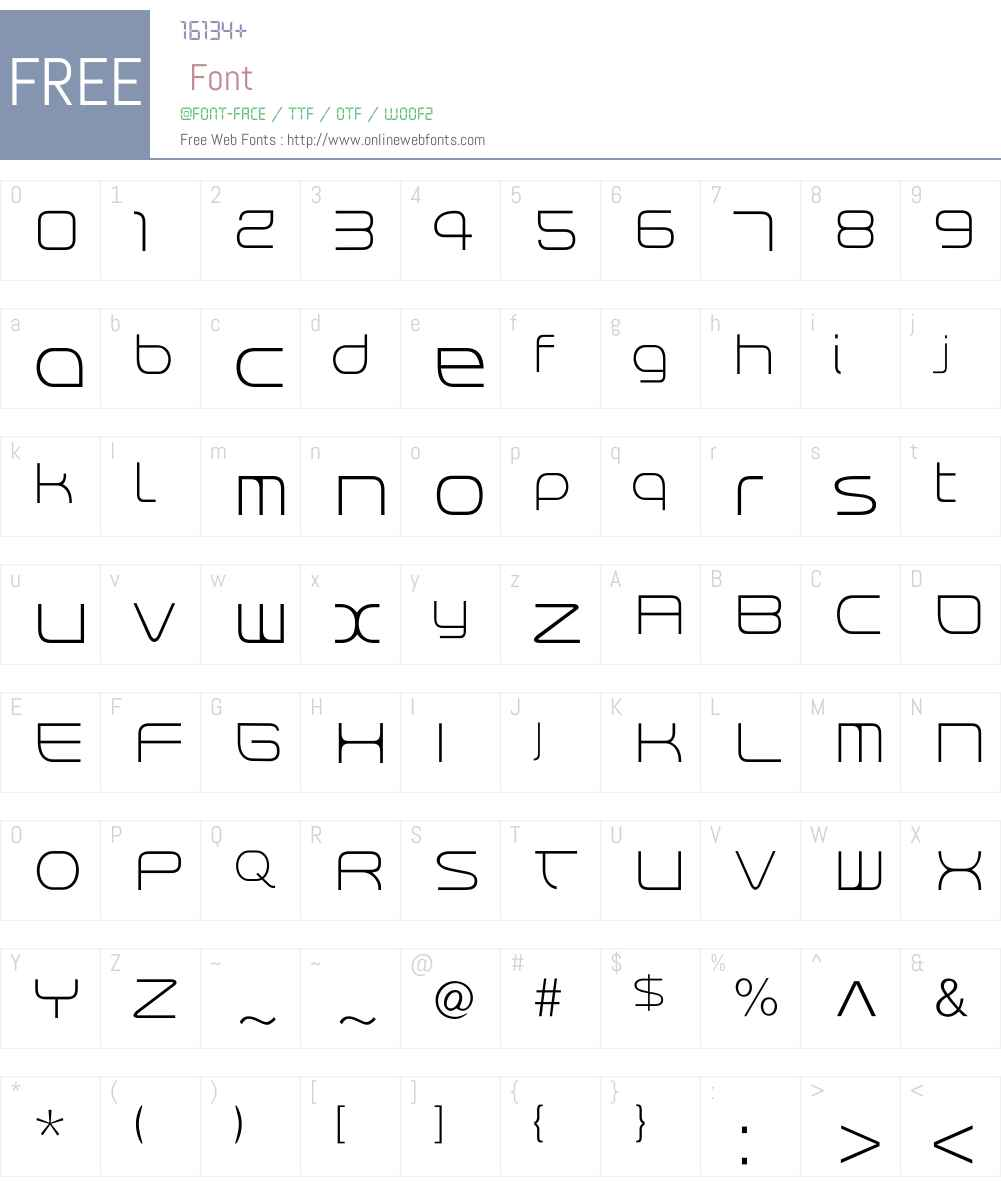 RendtPhysic Light Font Screenshots