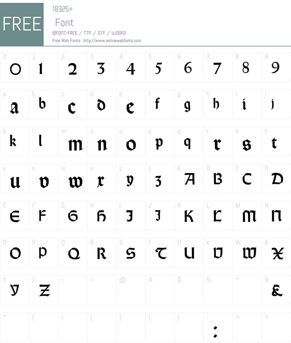 Orotund Font Screenshots