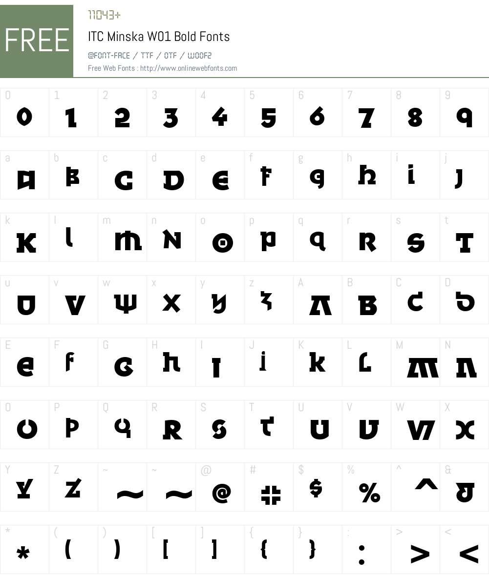 ITCMinskaW01-Bold Font Screenshots