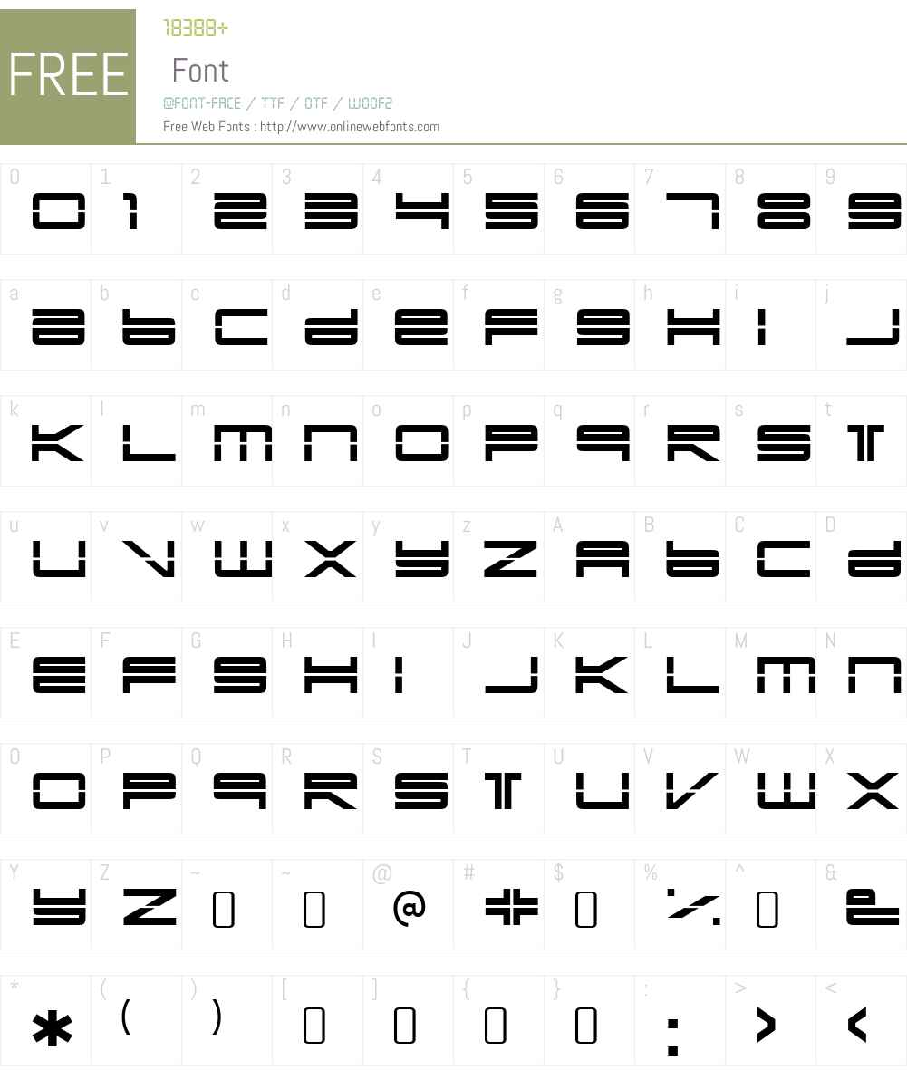 YonderRecoilW90-Regular Font Screenshots