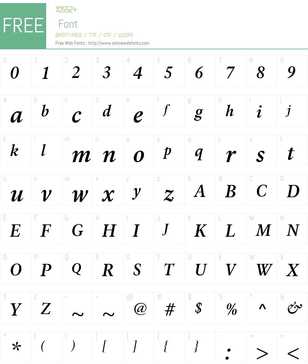 LaurentianW01-SemiBoldIt Font Screenshots